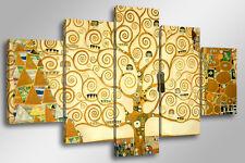 Quadro Moderno 5 pz. KLIMT - L'ALBERO DELLA VITA cm 150x90 arredamento arte