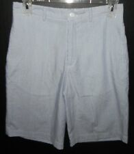 Boys Size 14 26W Summer Shorts Europa Collection Diffusion Blue White Pinstripe