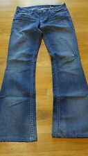 "WILLIAM RAST Jeans 28 31"" inseam cut # 402375 st RN # 123903 Flap back pockets"