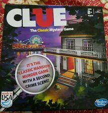 CLUE The Classic Mystery BOARD Game by Hasbro  2 sided gameboad