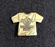 Stockholm GOLD STAFF SHIRT Hard Rock Cafe Pin