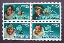 Sc # 2386-2389 (2389a) ~ Block of 4 ~ 25 cent American Explorers Issue (cb26)