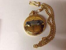 Austin Healey Frog Eyed ref16 pewter effect emblem gold quartz pocket watch