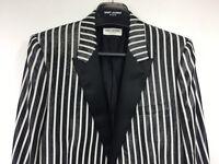 RARE SS13 Black White Shiny Saint Laurent Paris Jacket Blazer Hedi Slimane 48 46