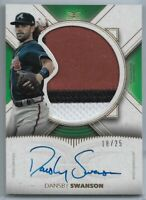 2021 Topps Definitive Collection Dansby Swanson Patch Auto #'d 18/25 Braves