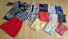 Juniors clothing lot of 13 size small & med, ladies boho dress, blouses & shirts