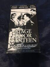 Stage Door Canteen VHS 1994 Collectors Edition Katharine Hepburn Harpo Marx