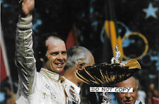 9x6 FOTOGRAFIA PETER GETHIN, BRM F1 VITTORIA podio ritratto, Italian GP 1971