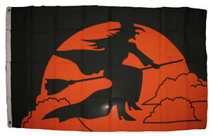 3x5 Halloween Witch Broom Flag 3'x5' house banner grommets 100D fabric