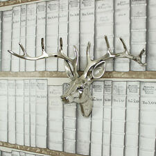 Silver Metal wall hanging mounted Stag deer Head animal display living room gift