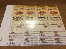1991-92 Lakers Playoff Tickets! Original not reproduction!