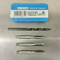 Presto 3 Piece Tap Sets Taper, Second, Plug And HSS Tapping Drill