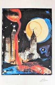 Salvador Dali - Manhattan Skyline Offet Lithograph