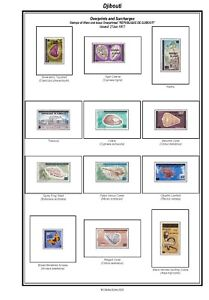 Print a Djibouti Stamp Album, fully illustrated and annotated