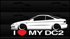 I Heart My DC2 Integra Sticker Love Slammed Low JDM Coupe Honda Acura
