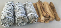 3 White Sage Smudge Stick & 10 Palo Santo Sticks | Smudge Kit Refill