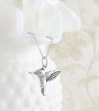 Hummingbird Pendant ONLY - Cute Dainty Bird Sterling Silver 925 wh61