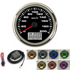 Universal 85mm Car Marine GPS Analog Speedometer 0-200km/h - 100% Waterproof