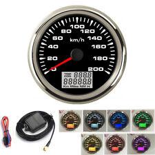 Universal 85mm Car Marine GPS Analog Speedometer 0-200km/h - 100% Waterproof
