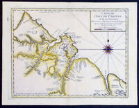 1753 Bellin Antique Map of Island of Cayenne in French Guyana, South America
