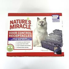 Natures Miracle 18 Ct Odor Control Receptacles Self-Cleaning Litter Box Refills
