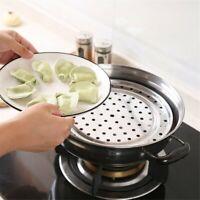 Kitchen Round Stainless Steel Steamer Rack Insert Stock Pot Steaming xQ