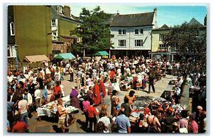 Postcard Totnes Devon The Elizabethan Market