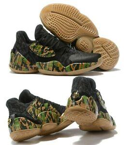 ADIDAS JAMES HARDEN VOL 4 BLACK CAMO EF1259 Men's Basketball Shoes AUTHENTIC