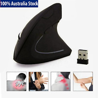 USB Wireless 1600DPI 2.4GHz Ergonomic Vertical Gaming Mouse Optical Mice for PC