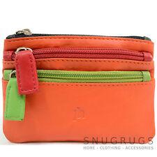 Ladies / Womens Super Soft 100% Leather Multi-Colour Coin / Money Purse