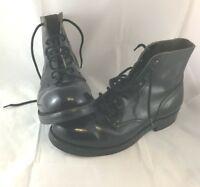 VTG Military Boots Size 8C VTG Grunge Combat Biltrite Gay Interest 7576