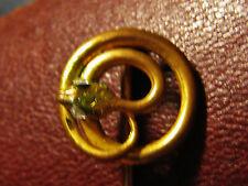 EPINGLE à CRAVATE XIXe SERPENT lové symbolise LA CONNAISSANCE métal doré