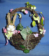 RAZ Imports Small Bird's Nest Basket w/Bunny's Head For Spring/Easter Decorating