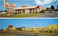 Maryville Tennessee 1950s Postcard Travelers Motel & Restaurant
