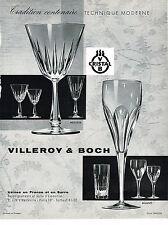 PUBLICITE ADVERTISING 054  1960  VILLEROY & BOCH cristal  service MESSINA MILANO