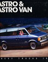 1987 Chevrolet Astro Van 24-page Original Sales Brochure Catalog