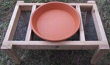Cedar Bird feeder / Bird Bath