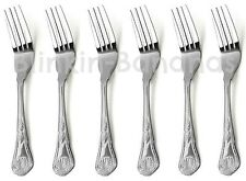 KINGS PATTERN DESSERT FORKS QUALITY SET OF 6 DESIGN HANDLE SMALLER CUTLERY