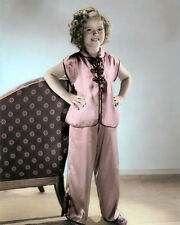 "Shirley Temple Stowaway 1936 Child Actress 8x10"" Hand Color Tinted Photograph"