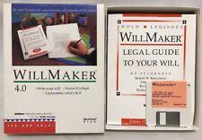 Nolo Legisoft Macintosh Disk WillMaker 4.0 Floppy Write your Will 1990 Complete