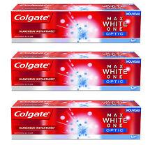 3 x COLGATE Max White One Optic Teeth Whitening Premium Toothpaste 50ml