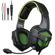 SADES Gaming Headphones with Mic and Volume Control for PS4 PC Computer  (Green)