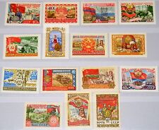 RUSSIA SOWJETUNION 1957 2000-14 2003-17 40th Ann October Revolution Flags MNH