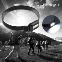 COB LED Headlamp Headlight Head Lamp Light Torch Flashlight Portable 3 Modes New
