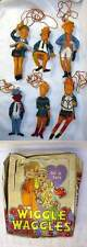 Vintage Wiggle Waggles from Chemtoy 1969 Oily Jiggle  figure set in display Box
