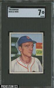 1950 Bowman #245 Al Papai Boston Red Sox SGC 7 NM