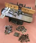 """Atlas Vintage 1/2"""" Shaper with Fence, Cutters, Bits, Spacers (missing motor)"""