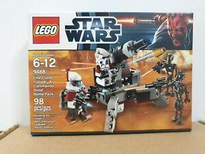 Lego Star Wars 9488 Elite Clone Trooper & Commander Droid Battle Pack New Sealed