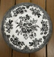 NEW (4) ROYAL STAFFORD ASIATIC PHEASANT TOILE BLACK DINNER PLATES HOME DECOR