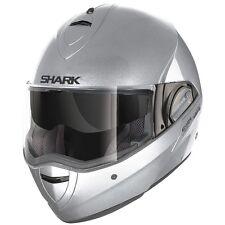 Shark EvoLine Series 2 Flip Up Street Motorcycle Helmet Gloss Silver XSmall XS